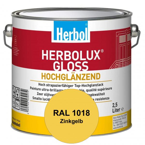 Herbolux Gloss (RAL 1018 Zinkgelb) strapazierfähiger Top-Hochglanzlack (lösemittelhaltig) für innen