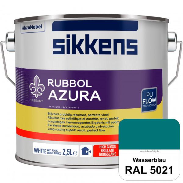 Rubbol Azura (RAL 5021 Wasserblau) hochglänzender Lack (löselmittelhaltig) innen & außen