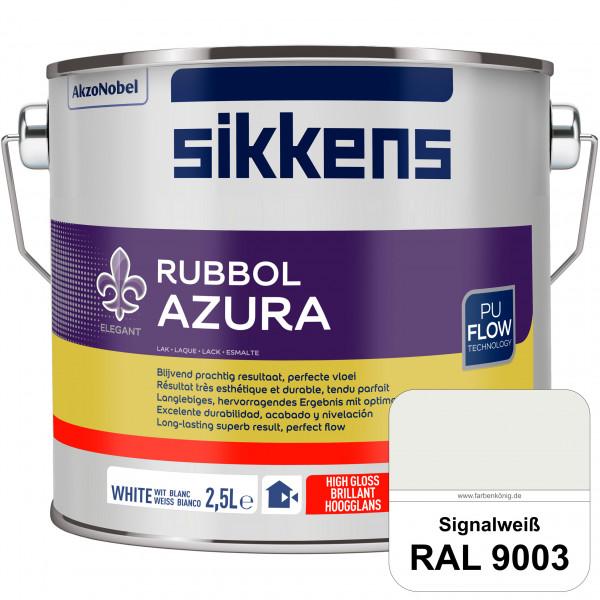 Rubbol Azura (RAL 9003 Signalweiß) hochglänzender Lack (löselmittelhaltig) innen & außen