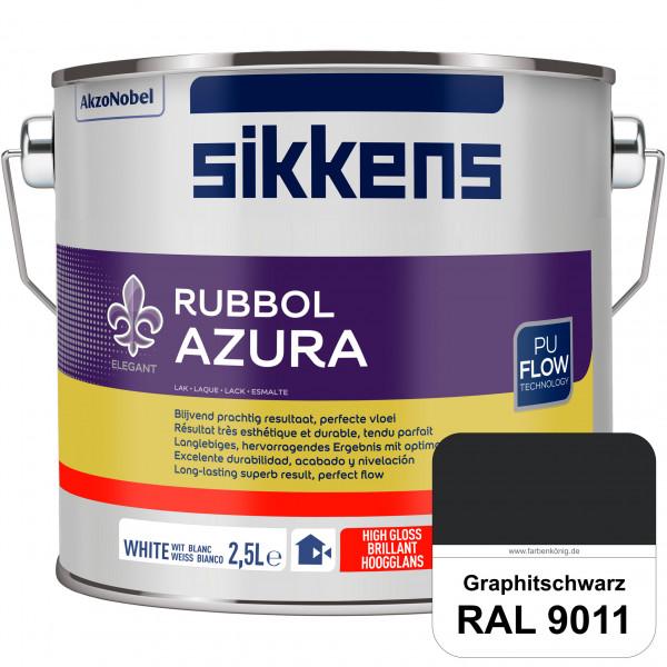 Rubbol Azura (RAL 9011 Graphitschwarz) hochglänzender Lack (löselmittelhaltig) innen & außen