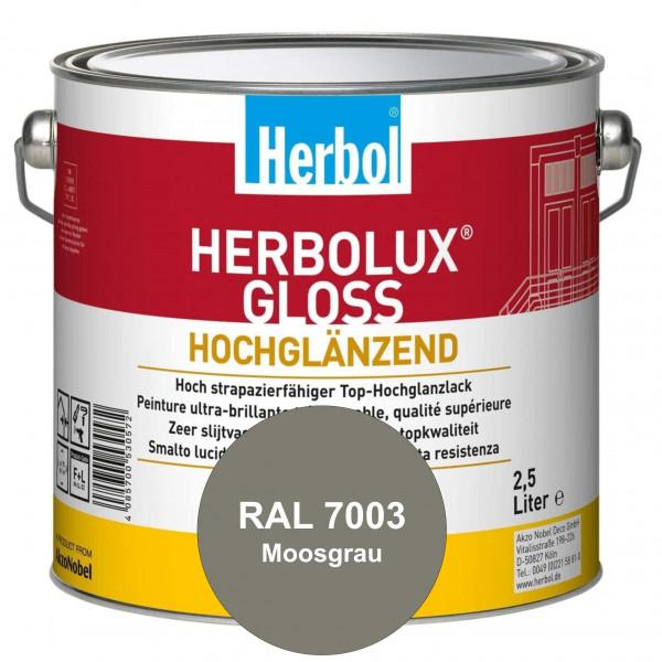 Herbolux Gloss (RAL 7003 Moosgrau) strapazierfähiger Top-Hochglanzlack (lösemittelhaltig) für innen