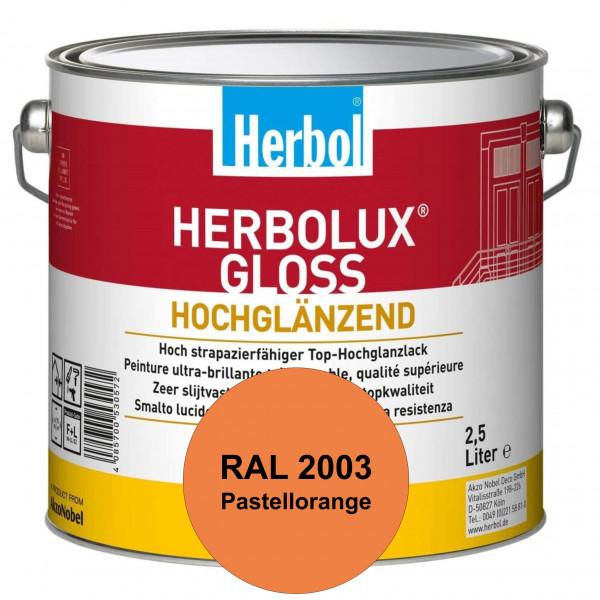 Herbolux Gloss (RAL 2003 Pastellorange) strapazierfähiger Top-Hochglanzlack (lösemittelhaltig) für i