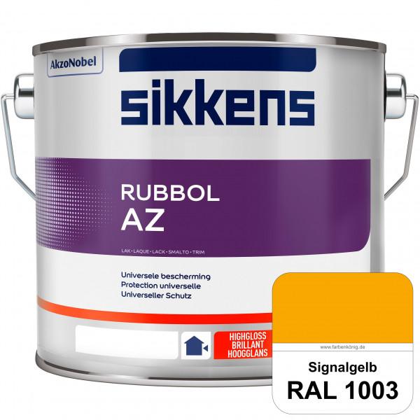 Rubbol AZ (RAL 1003 Signalgelb) Hochwertiger, universeller Hochglanzlack (lösemittelhaltig) außen