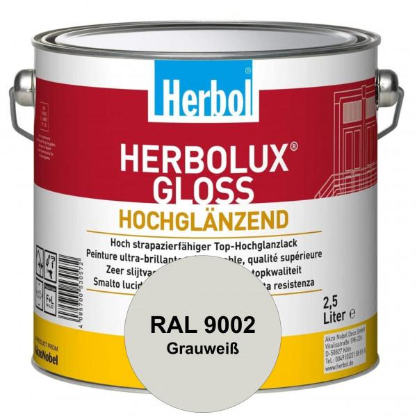 Herbolux Gloss (RAL 9002 Grauweiß) strapazierfähiger Top-Hochglanzlack (lösemittelhaltig) für innen