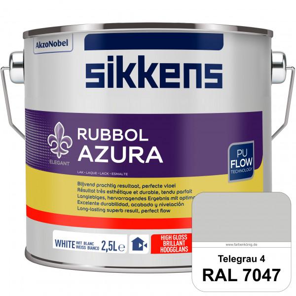 Rubbol Azura (RAL 7047 Telegrau 4) hochglänzender Lack (löselmittelhaltig) innen & außen