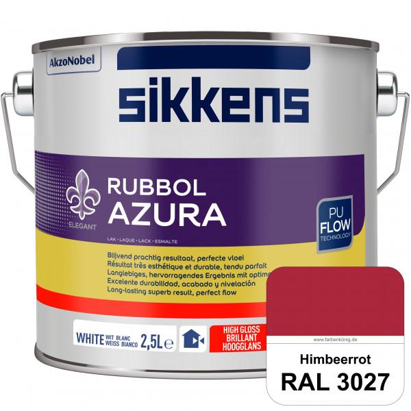 Rubbol Azura (RAL 3027 Himbeerrot) hochglänzender Lack (löselmittelhaltig) innen & außen