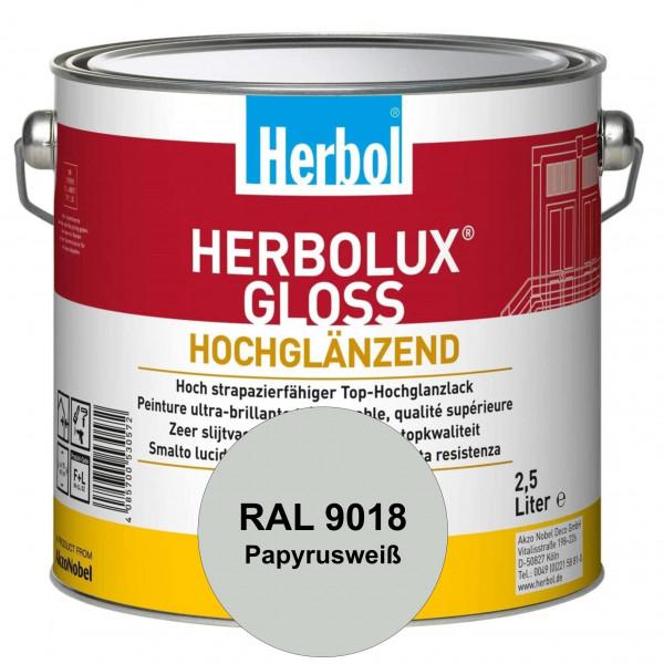 Herbolux Gloss (RAL 9018 Papyrusweiß) strapazierfähiger Top-Hochglanzlack (lösemittelhaltig) für inn