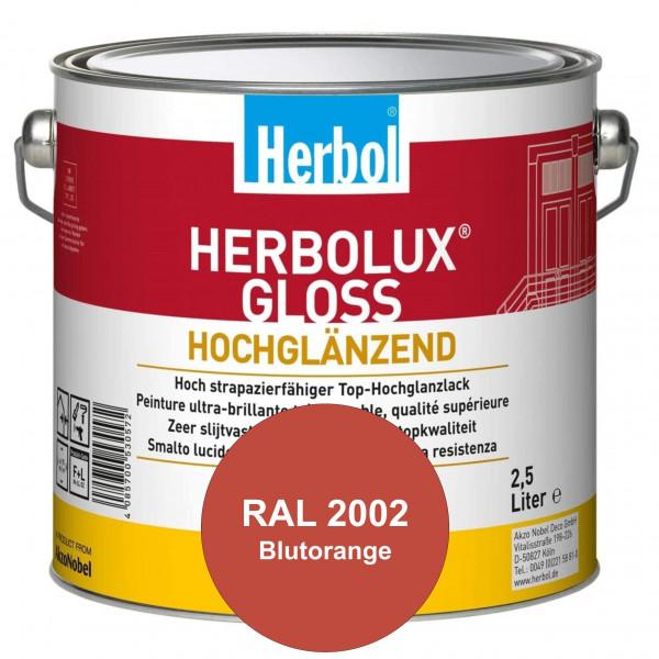 Herbolux Gloss (RAL 2002 Blutorange) strapazierfähiger Top-Hochglanzlack (lösemittelhaltig) für inne