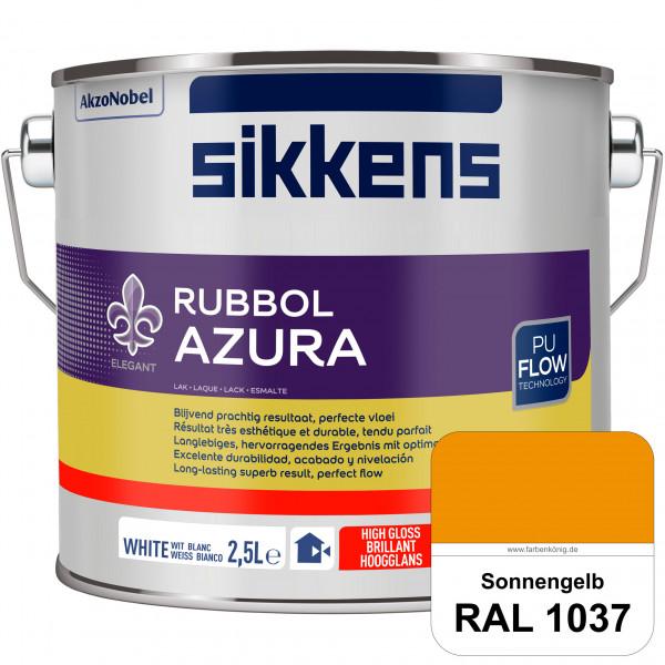Rubbol Azura (RAL 1037 Sonnengelb) hochglänzender Lack (löselmittelhaltig) innen & außen