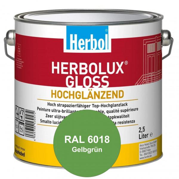 Herbolux Gloss (RAL 6018 Gelbgrün) strapazierfähiger Top-Hochglanzlack (lösemittelhaltig) für innen