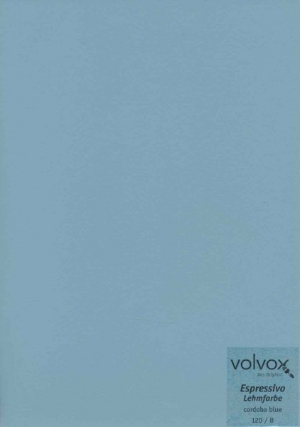 Volvox Espressivo Lehmfarbe - cordoba blue