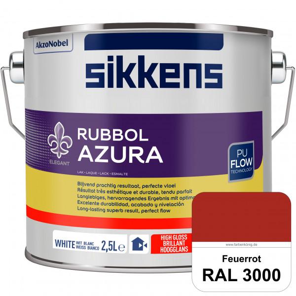 Rubbol Azura (RAL 3000 Feuerrot) hochglänzender Lack (löselmittelhaltig) innen & außen
