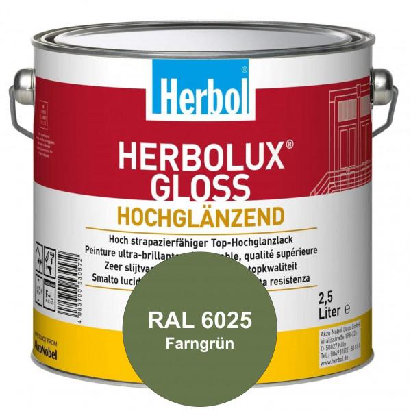Herbolux Gloss (RAL 6025 Farngrün) strapazierfähiger Top-Hochglanzlack (lösemittelhaltig) für innen