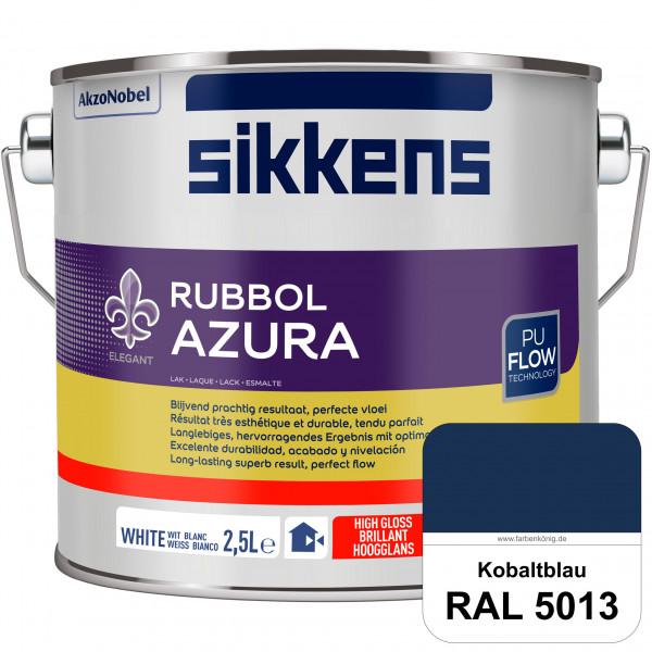 Rubbol Azura (RAL 5013 Kobaltblau) hochglänzender Lack (löselmittelhaltig) innen & außen