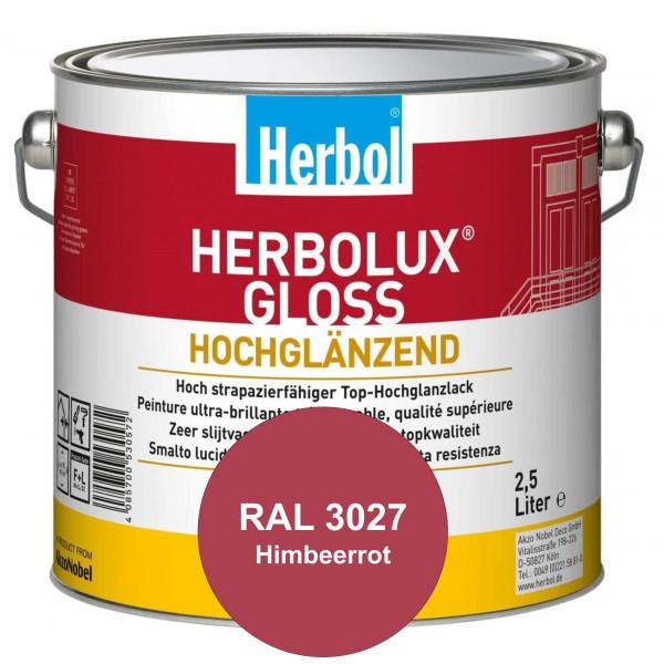 Herbolux Gloss (RAL 3027 Himbeerrot) strapazierfähiger Top-Hochglanzlack (lösemittelhaltig) für inne