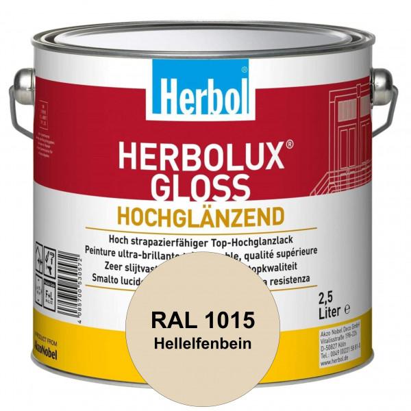 Herbolux Gloss (RAL 1015 Hellelfenbein) strapazierfähiger Top-Hochglanzlack (lösemittelhaltig) für i
