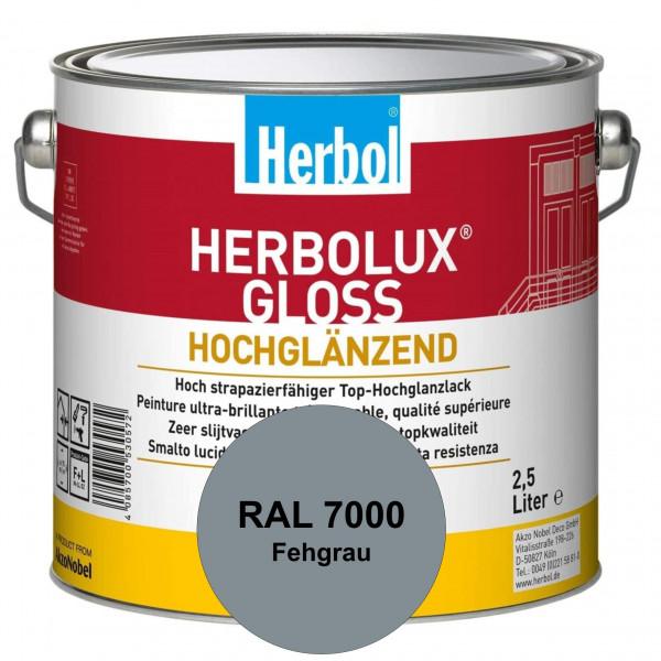 Herbolux Gloss (RAL 7000 Fehgrau) strapazierfähiger Top-Hochglanzlack (lösemittelhaltig) für innen &