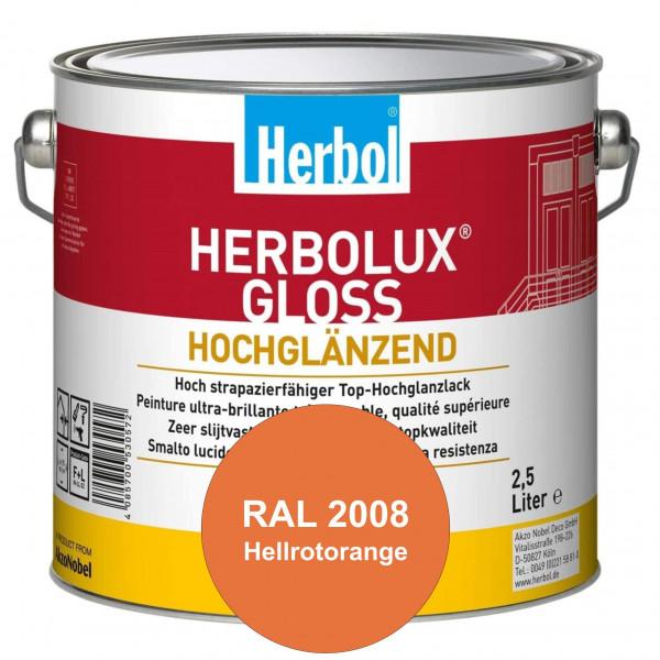 Herbolux Gloss (RAL 2008 Hellrotorange) strapazierfähiger Top-Hochglanzlack (lösemittelhaltig) für i