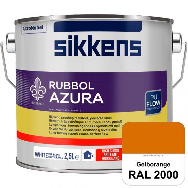Rubbol Azura (RAL 2000 Gelborange) hochglänzender Lack (löselmittelhaltig) innen & außen