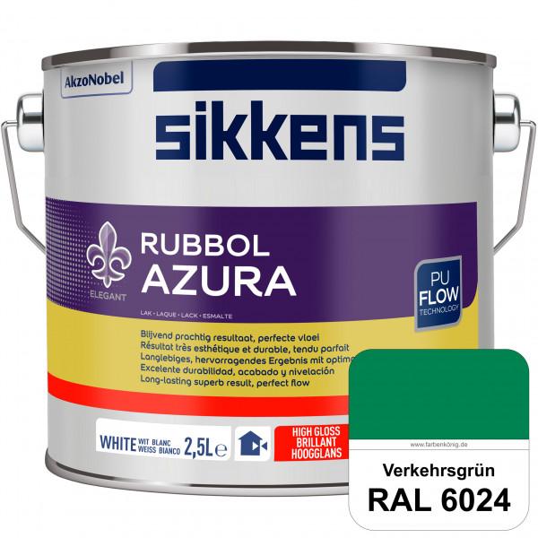 Rubbol Azura (RAL 6024 Verkehrsgrün) hochglänzender Lack (löselmittelhaltig) innen & außen