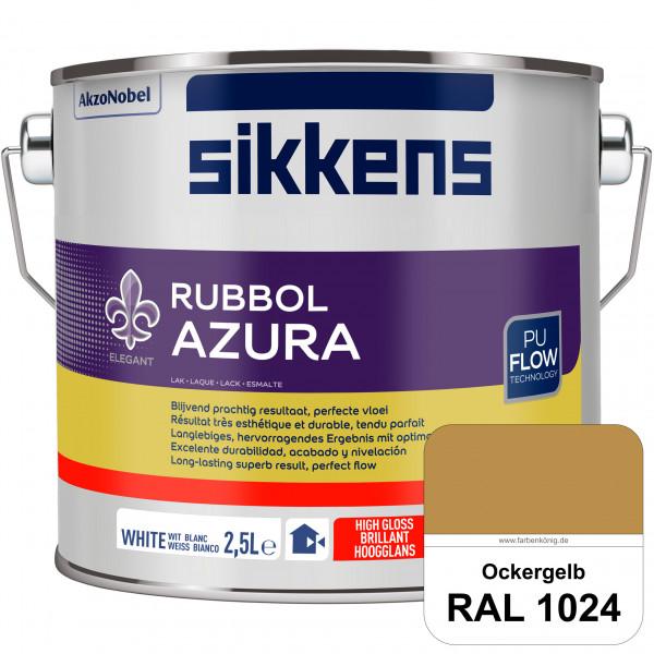 Rubbol Azura (RAL 1024 Ockergelb) hochglänzender Lack (löselmittelhaltig) innen & außen