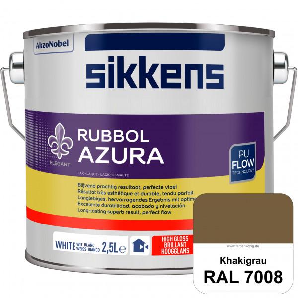 Rubbol Azura (RAL 7008 Khakigrau) hochglänzender Lack (löselmittelhaltig) innen & außen