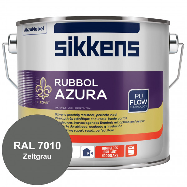 Rubbol Azura (RAL 7010 Zeltgrau) hochglänzender Lack (löselmittelhaltig) innen & außen