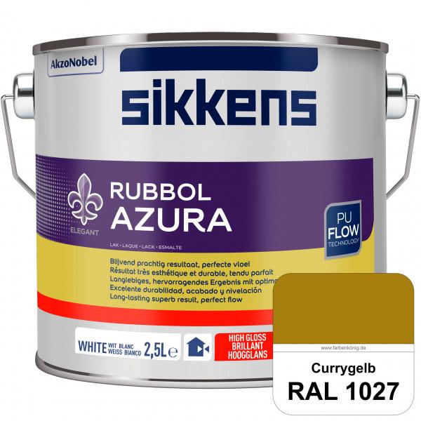 Rubbol Azura (RAL 1027 Currygelb) hochglänzender Lack (löselmittelhaltig) innen & außen