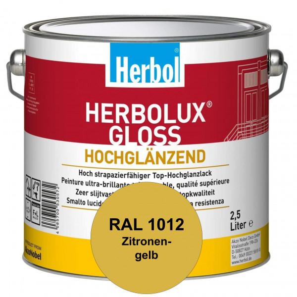 Herbolux Gloss (RAL 1012 Zitronengelb) strapazierfähiger Top-Hochglanzlack (lösemittelhaltig) für in