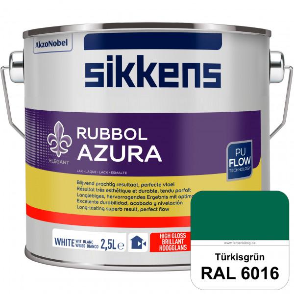 Rubbol Azura (RAL 6016 Türrkisgrün) hochglänzender Lack (löselmittelhaltig) innen & außen