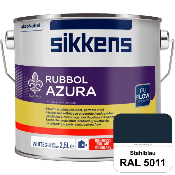 Rubbol Azura (RAL 5011 Stahlblau) hochglänzender Lack (löselmittelhaltig) innen & außen
