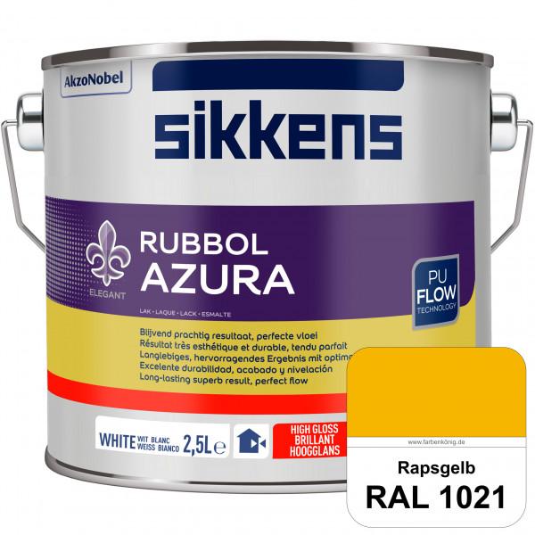Rubbol Azura (RAL 1021 Rapsgelb) hochglänzender Lack (löselmittelhaltig) innen & außen