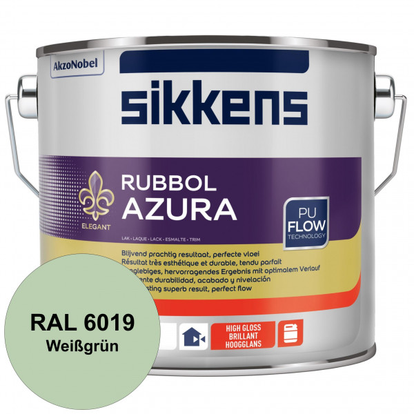 Rubbol Azura (RAL 6019 Weißgrün) hochglänzender Lack (löselmittelhaltig) innen & außen