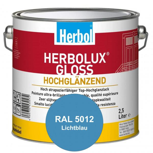 Herbolux Gloss (RAL 5012 Lichtblau) strapazierfähiger Top-Hochglanzlack (lösemittelhaltig) für innen