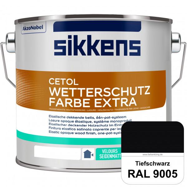 Cetol Wetterschutzfarbe Extra (RAL 9005 Tiefschwarz)