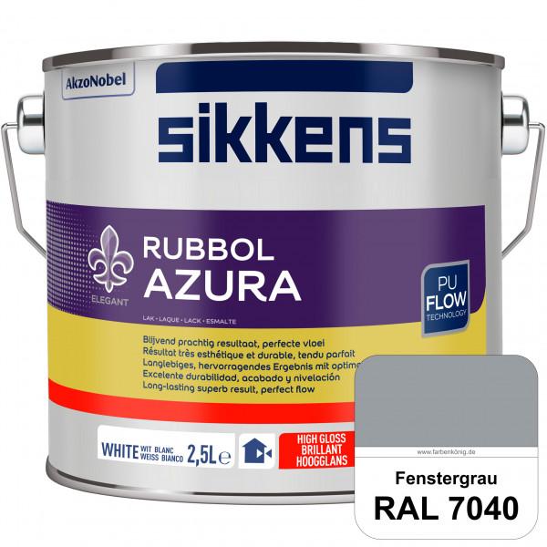 Rubbol Azura (RAL 7040 Fenstergrau) hochglänzender Lack (löselmittelhaltig) innen & außen