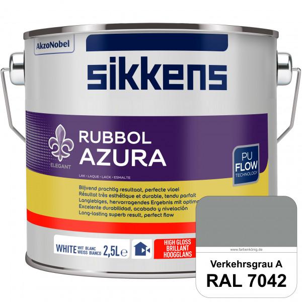 Rubbol Azura (RAL 7042 Verkehrsgrau A) hochglänzender Lack (löselmittelhaltig) innen & außen