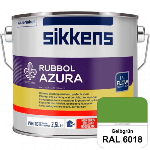 Rubbol Azura (RAL 6018 Gelbgrün) hochglänzender Lack (löselmittelhaltig) innen & außen