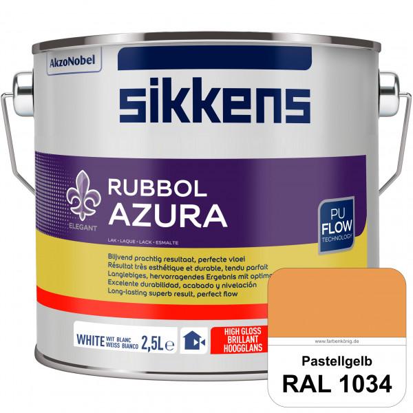 Rubbol Azura (RAL 1034 Pastellgelb) hochglänzender Lack (löselmittelhaltig) innen & außen