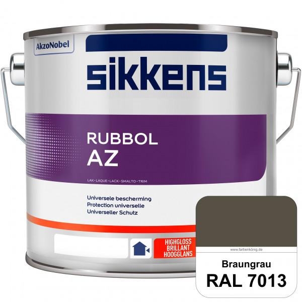 Rubbol AZ (RAL 7013 Braungrau) Hochwertiger, universeller Hochglanzlack (lösemittelhaltig) außen