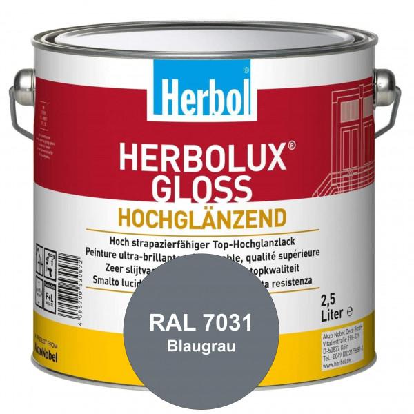 Herbolux Gloss (RAL 7031 Blaugrau) strapazierfähiger Top-Hochglanzlack (lösemittelhaltig) für innen