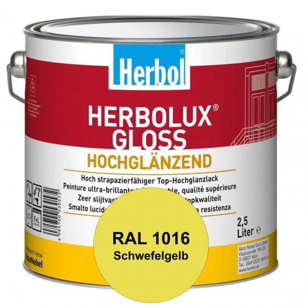 Herbolux Gloss (RAL 1016 Schwefelgelb) strapazierfähiger Top-Hochglanzlack (lösemittelhaltig) für in