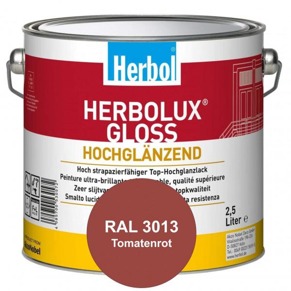 Herbolux Gloss (RAL 3013 Tomatenrot) strapazierfähiger Top-Hochglanzlack (lösemittelhaltig) für inne