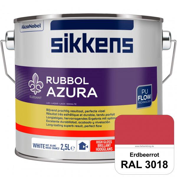 Rubbol Azura (RAL 3018 Erdbeerrot) hochglänzender Lack (löselmittelhaltig) innen & außen