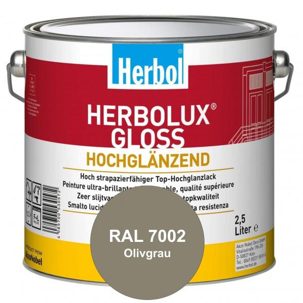 Herbolux Gloss (RAL 7002 Olivgrau) strapazierfähiger Top-Hochglanzlack (lösemittelhaltig) für innen