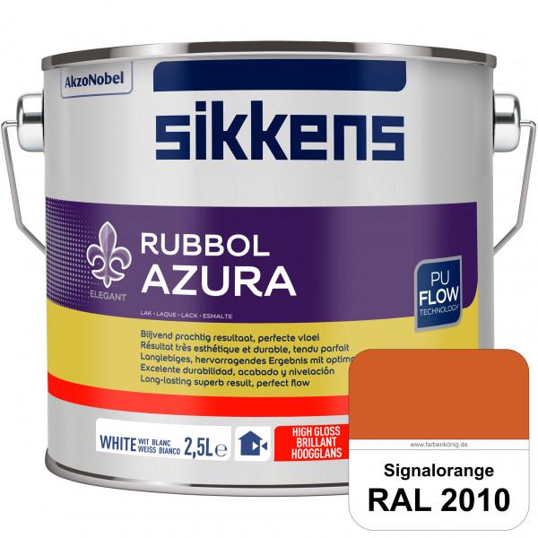 Rubbol Azura (RAL 2010 Signalorange) hochglänzender Lack (löselmittelhaltig) innen & außen