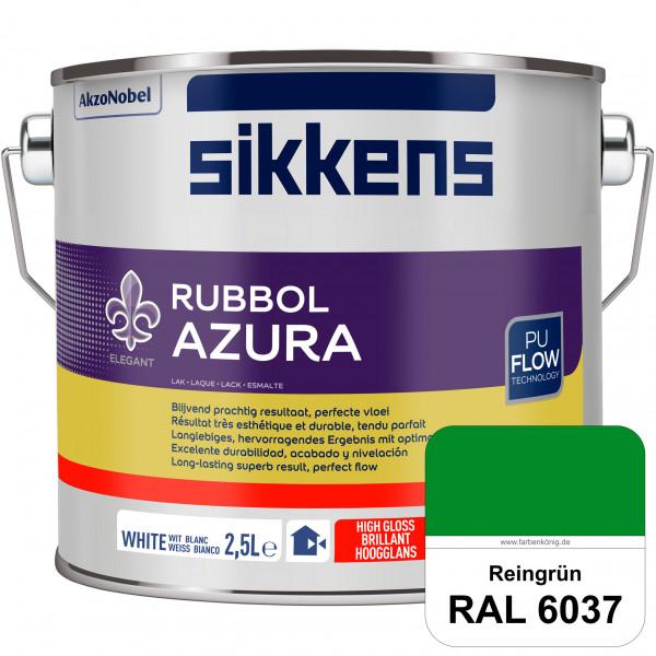 Rubbol Azura (RAL 6037 Reingrün) hochglänzender Lack (löselmittelhaltig) innen & außen