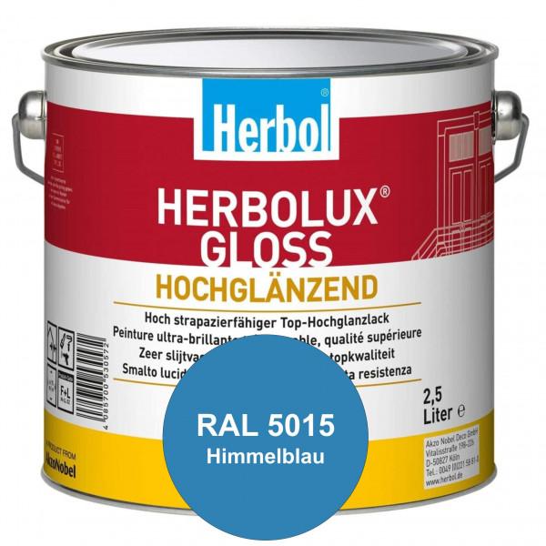 Herbolux Gloss (RAL 5015 Himmelblau) strapazierfähiger Top-Hochglanzlack (lösemittelhaltig) für inne
