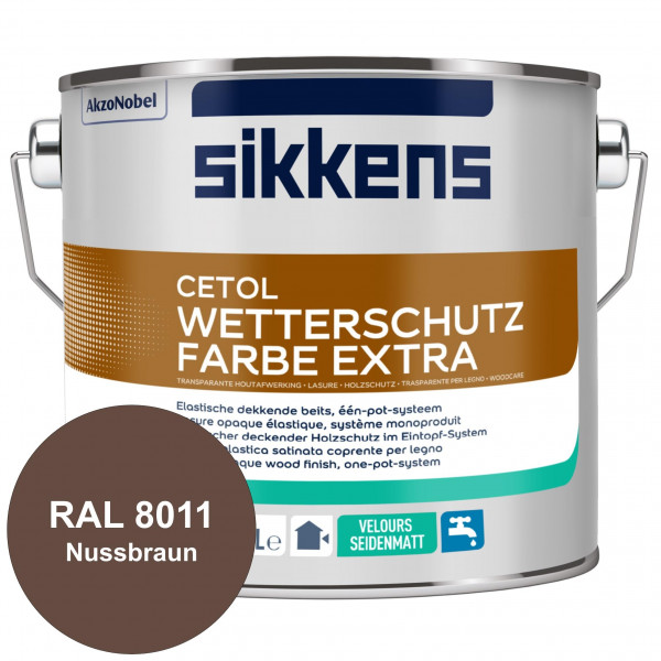 Cetol Wetterschutzfarbe Extra (RAL 8011 Nussbraun)