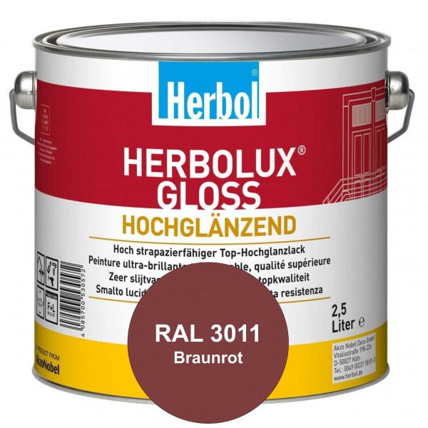Herbolux Gloss (RAL 3011 Braunrot) strapazierfähiger Top-Hochglanzlack (lösemittelhaltig) für innen